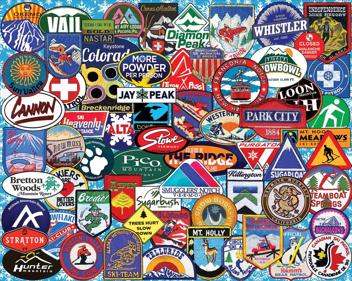 Ski Badges Sports Jigsaw Puzzle