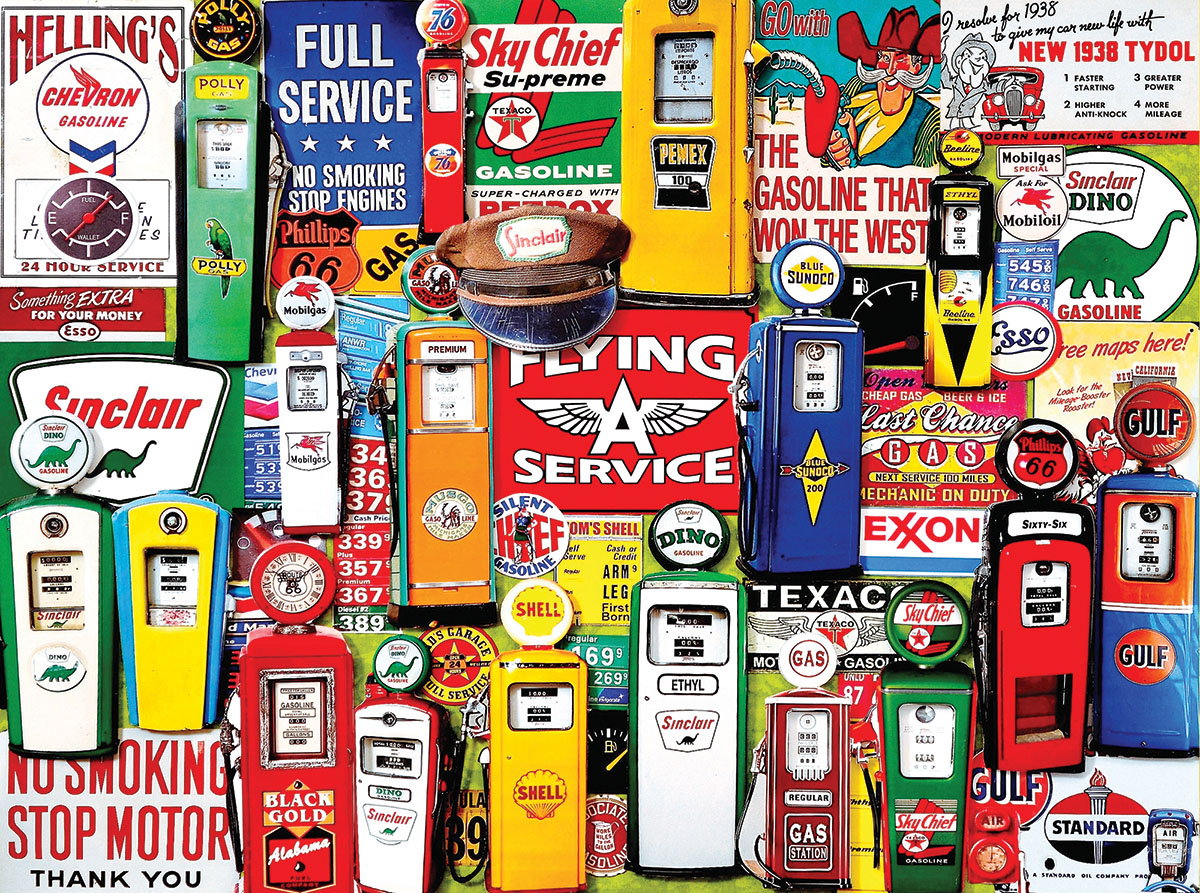 Gas Pumps Vehicles Jigsaw Puzzle