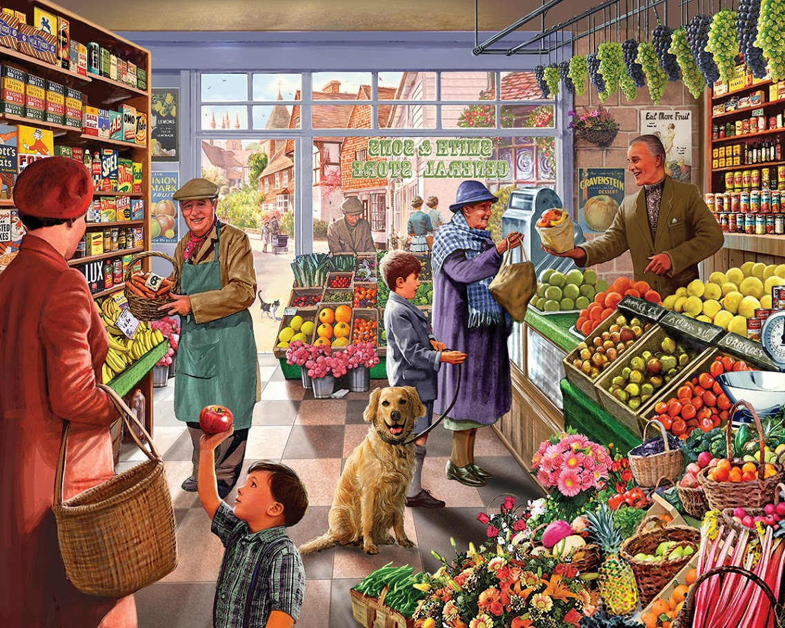 Market Day Food and Drink Jigsaw Puzzle