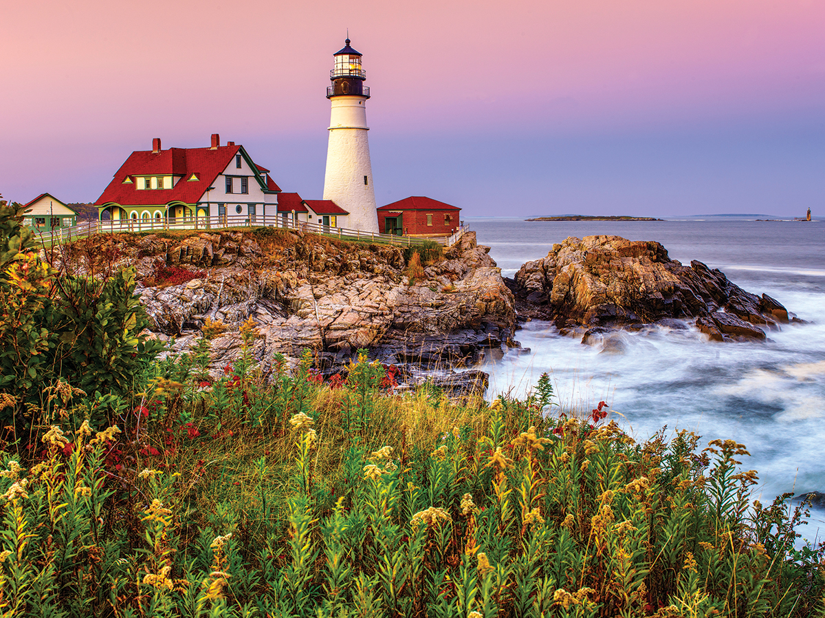 Maine Lighthouse Lighthouses Jigsaw Puzzle
