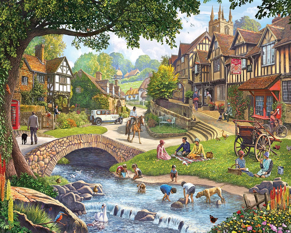 Summer Village Summer Jigsaw Puzzle