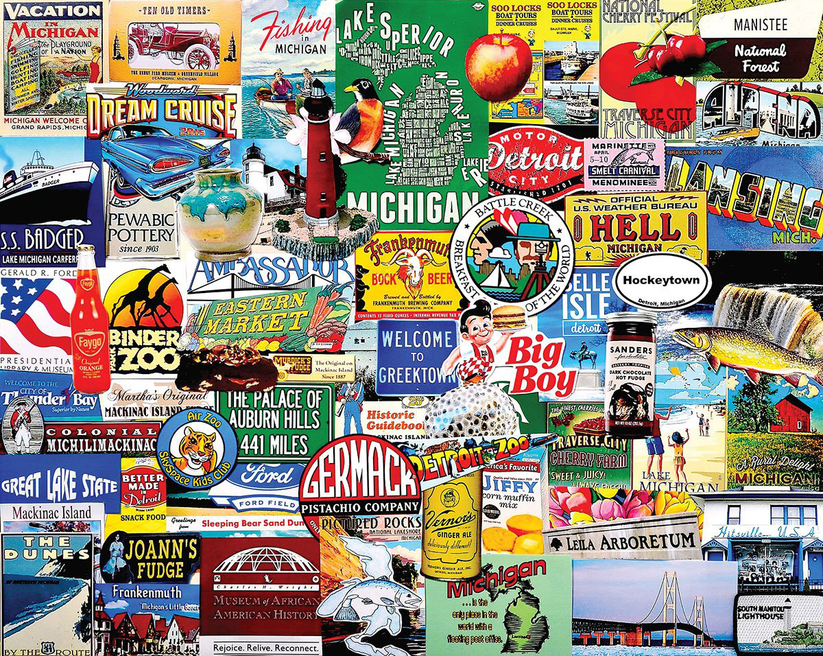 I Love Michigan Landmarks / Monuments Jigsaw Puzzle