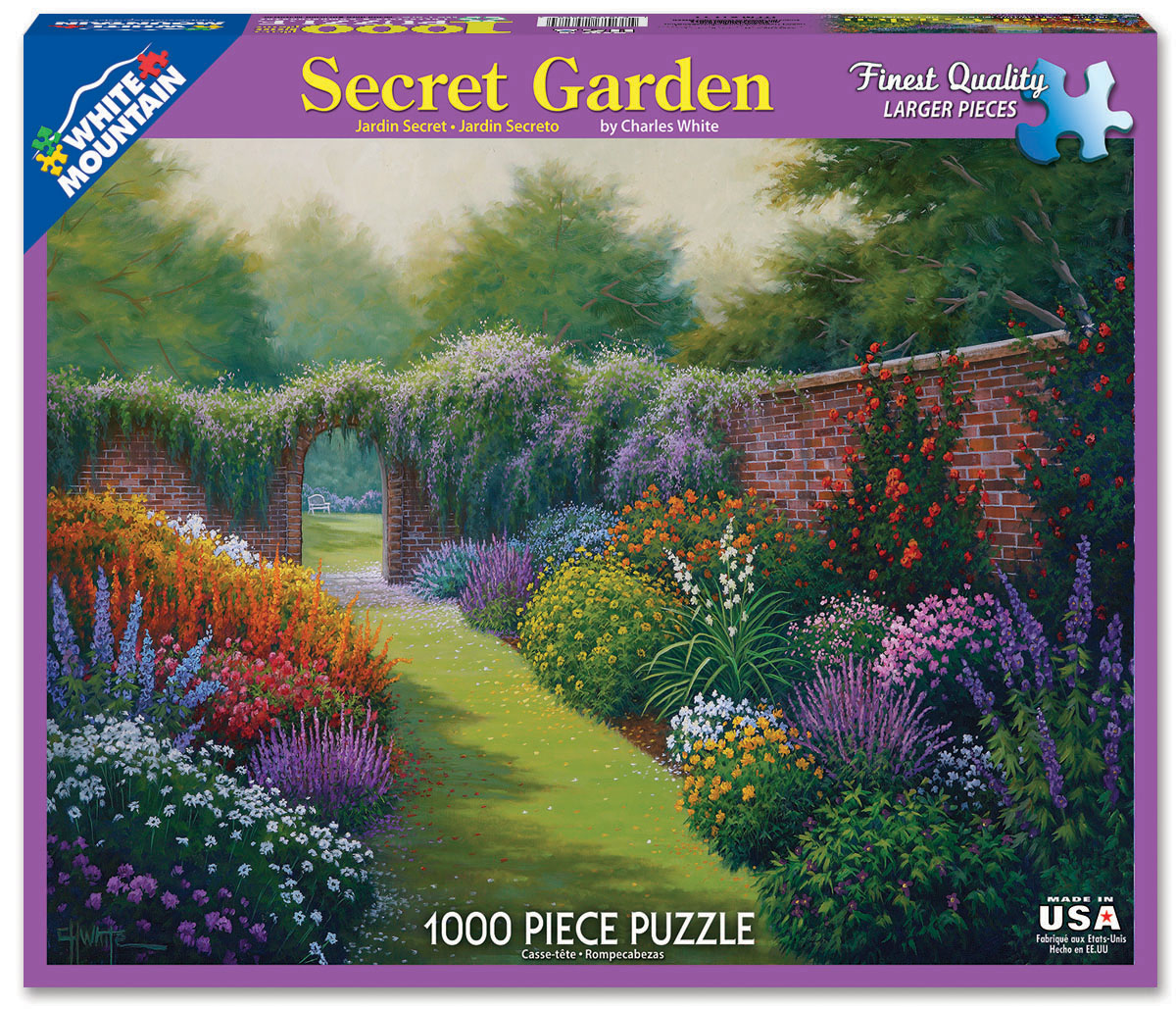 Secret Garden Flowers Jigsaw Puzzle