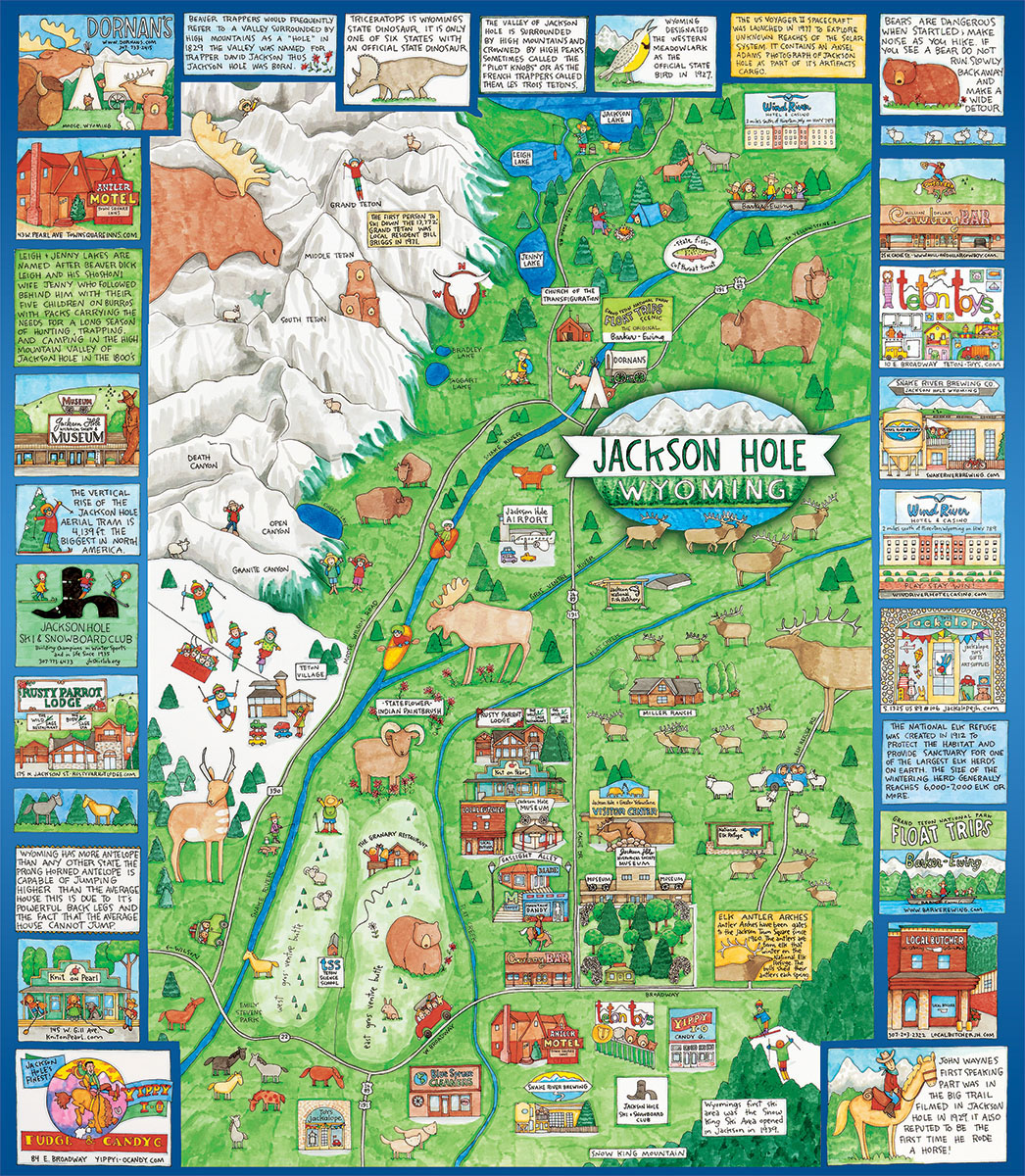 Jackson Hole Graphics / Illustration Jigsaw Puzzle