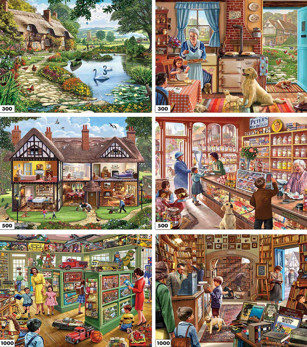 6 in 1 Crisp - Scratch and Dent Nostalgic / Retro Jigsaw Puzzle