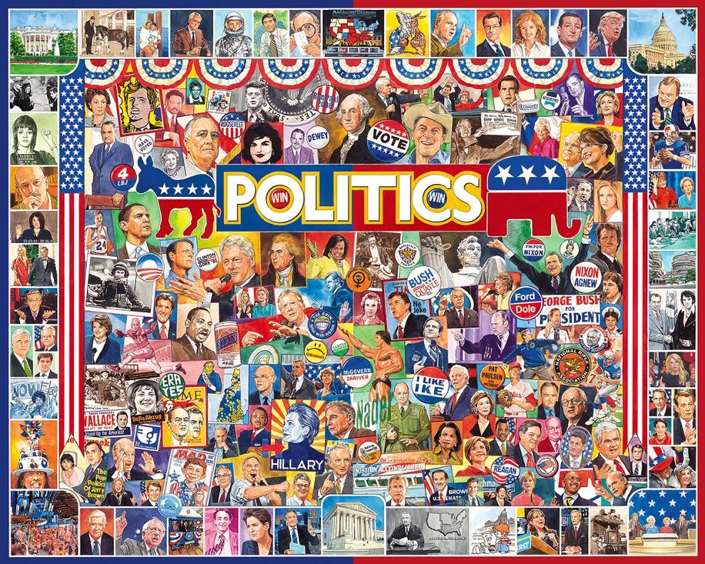 Politics Americana & Folk Art Jigsaw Puzzle