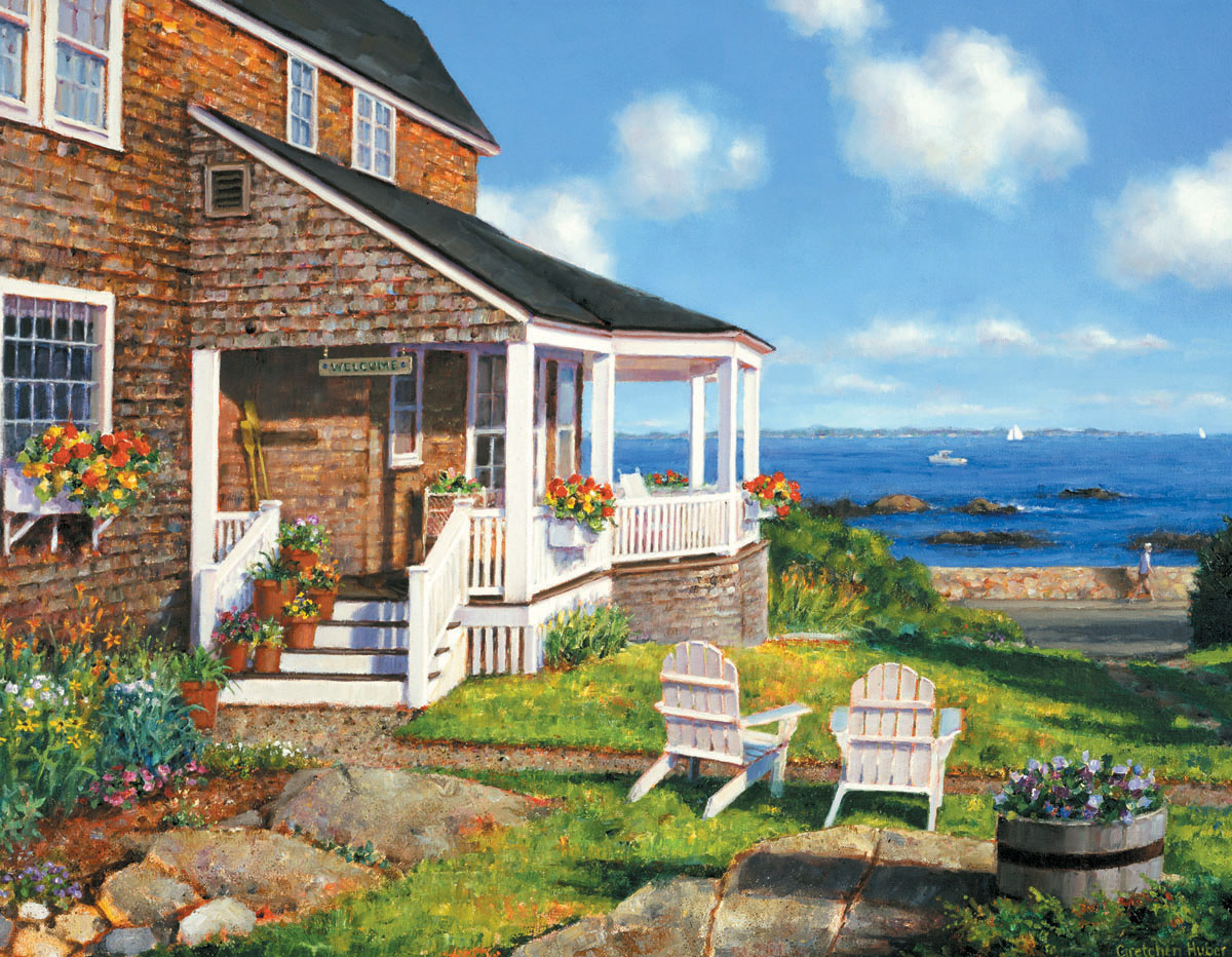 Seaside Cottage, 550 Pieces, White Mountain | Puzzle Warehouse