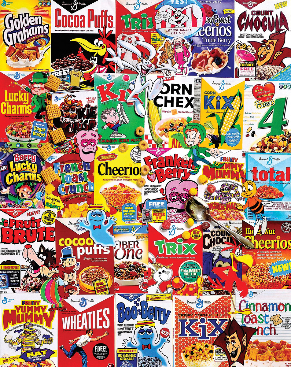 New Cereal Boxes Nostalgic / Retro Jigsaw Puzzle