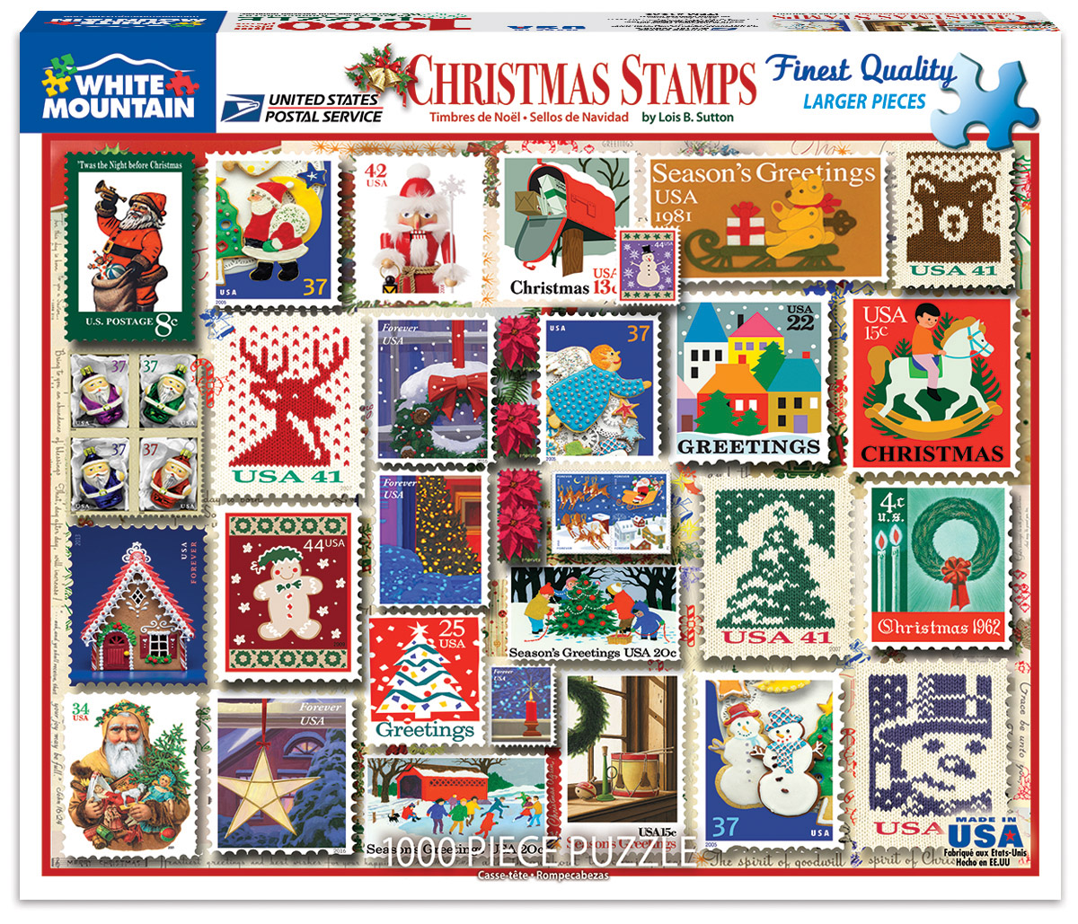 Christmas Stamps - Scratch and Dent Christmas Jigsaw Puzzle