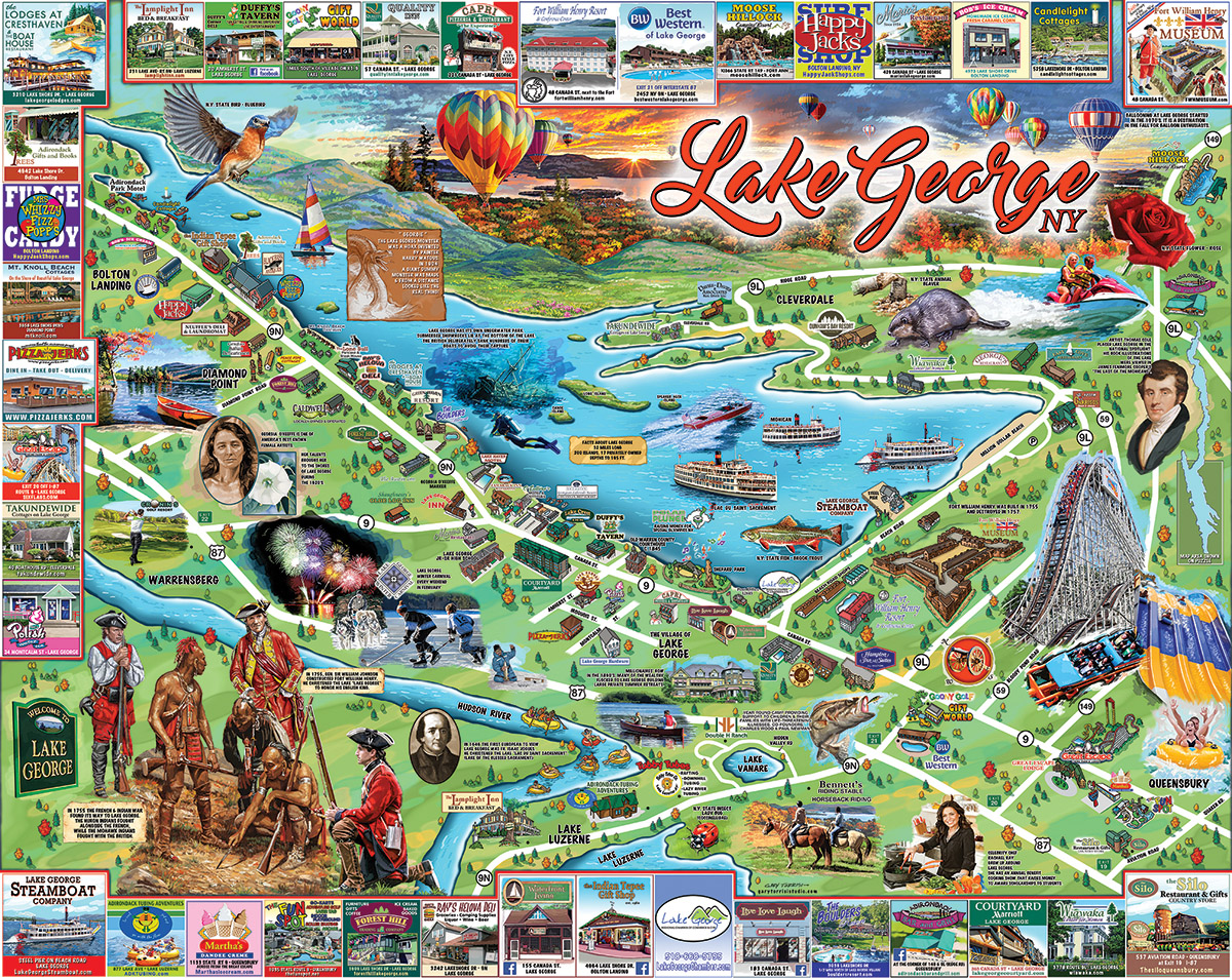 I Love Lake George Cartoons Jigsaw Puzzle