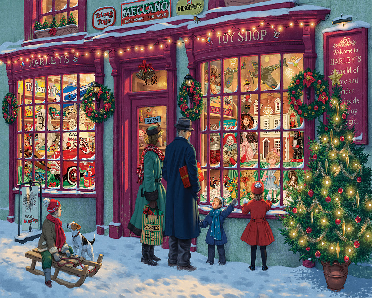 Christmas Toy House - Scratch and Dent Christmas Jigsaw Puzzle