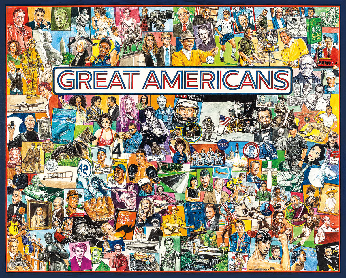 Great Americans Famous People Jigsaw Puzzle