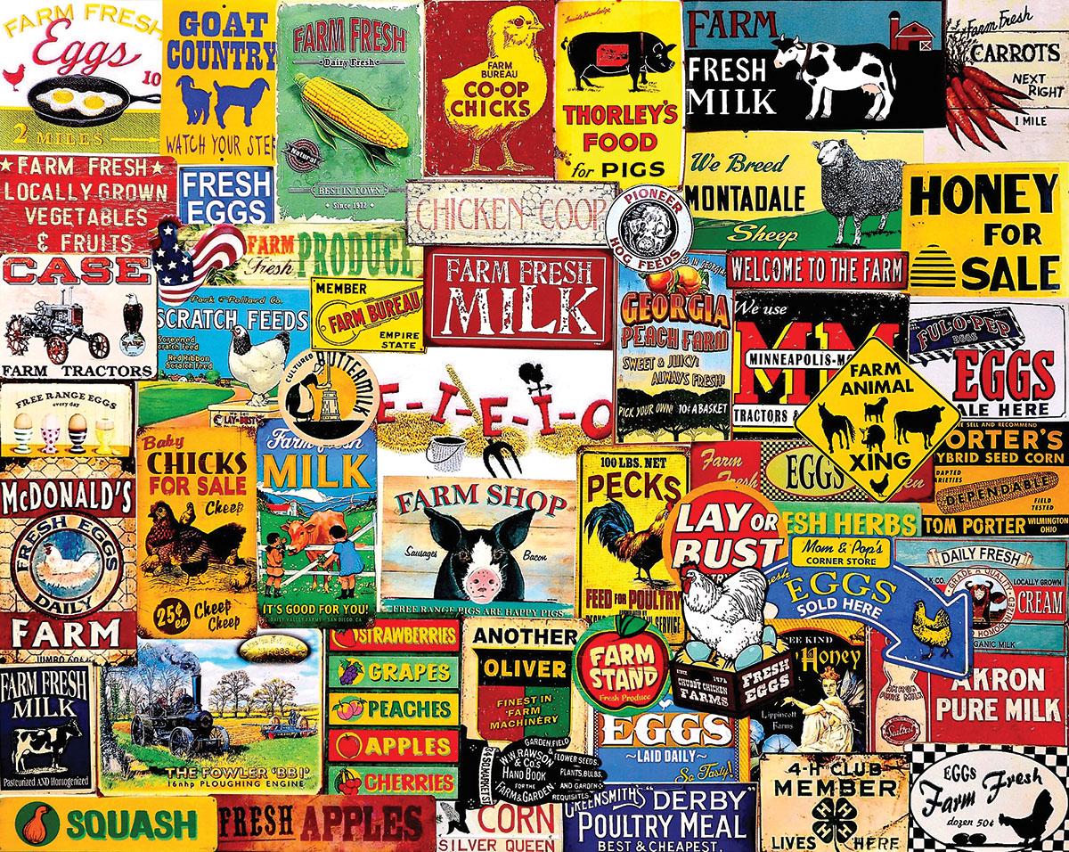 Down on the Farm Nostalgic / Retro Jigsaw Puzzle