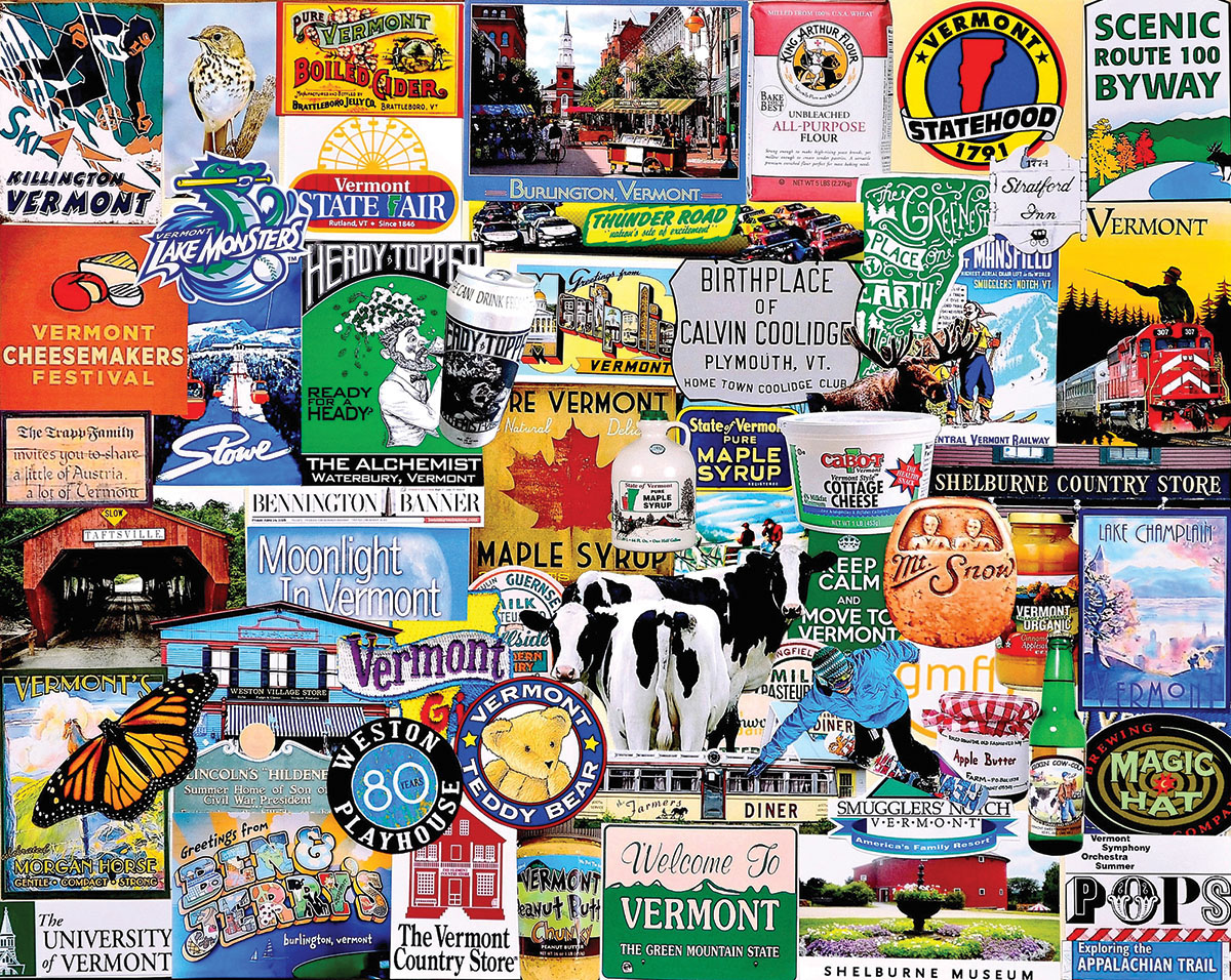 I Love Vermont Collage Jigsaw Puzzle