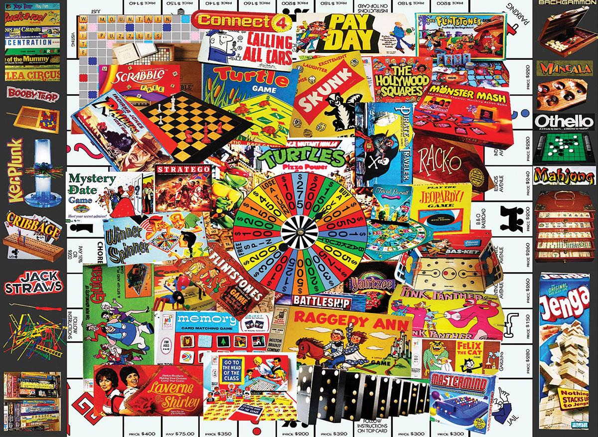 Games We Loved Nostalgic / Retro Jigsaw Puzzle