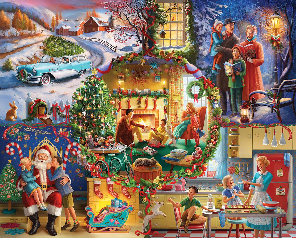 Christmas Traditions Nostalgic / Retro Jigsaw Puzzle
