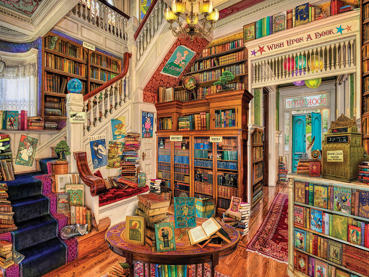 Book Heaven Library / Literary Jigsaw Puzzle