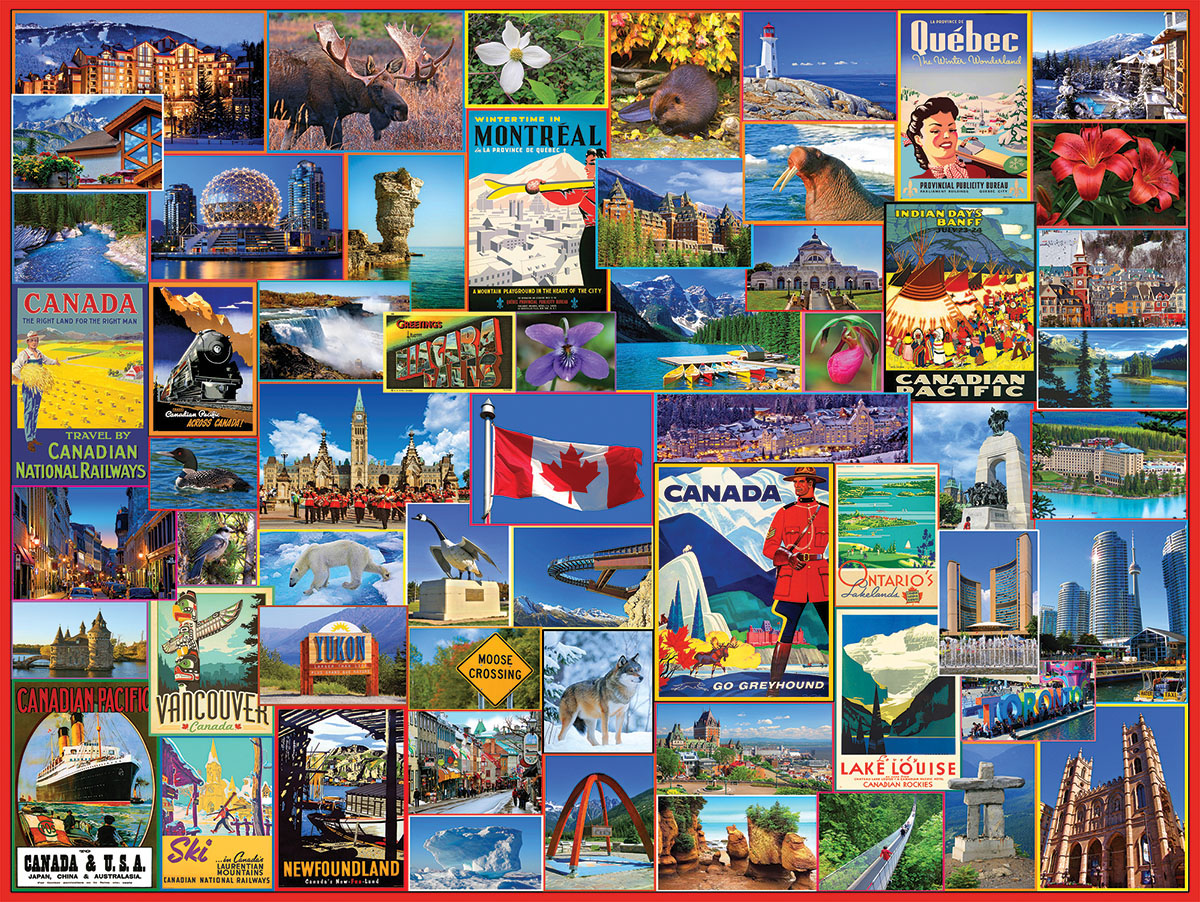 Best Places in Canada Canada Jigsaw Puzzle