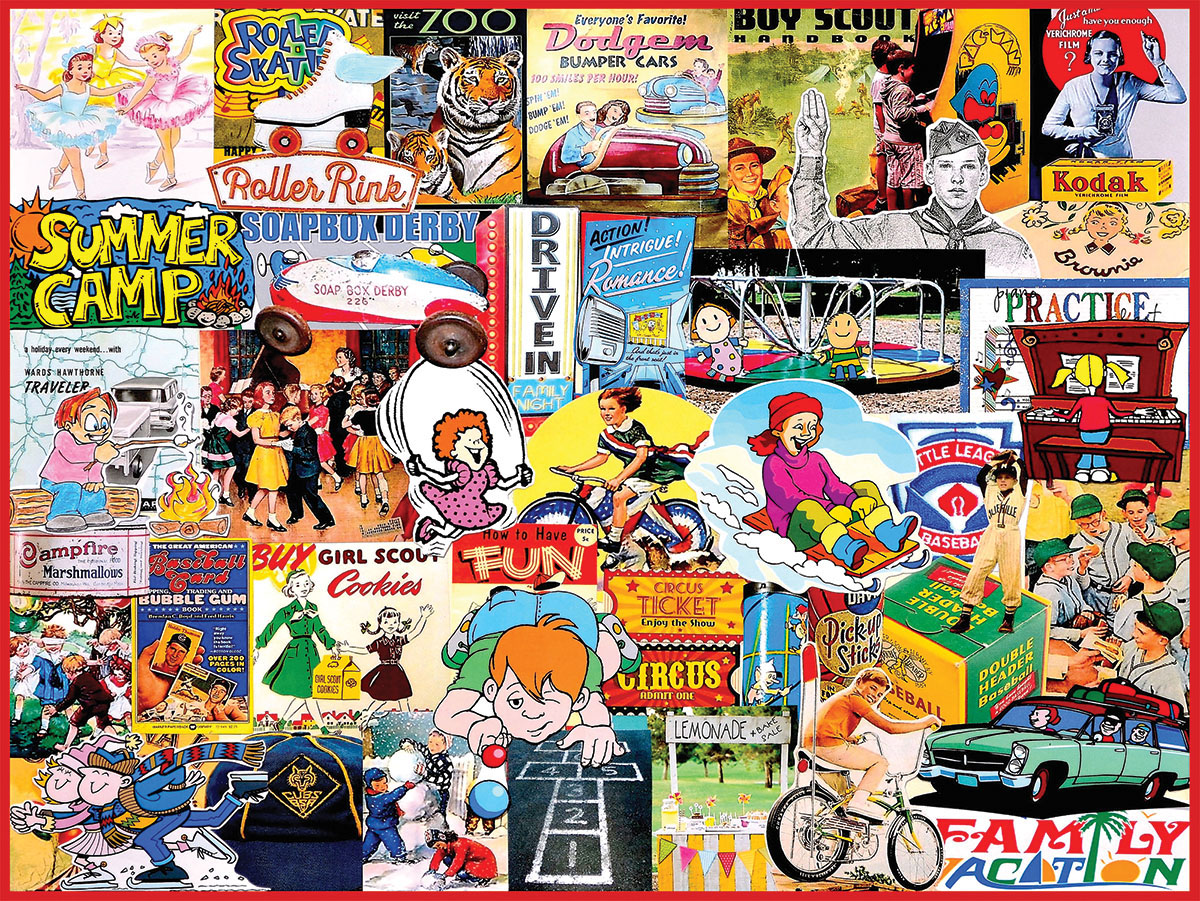 Things I Did as a Kid Collage Jigsaw Puzzle