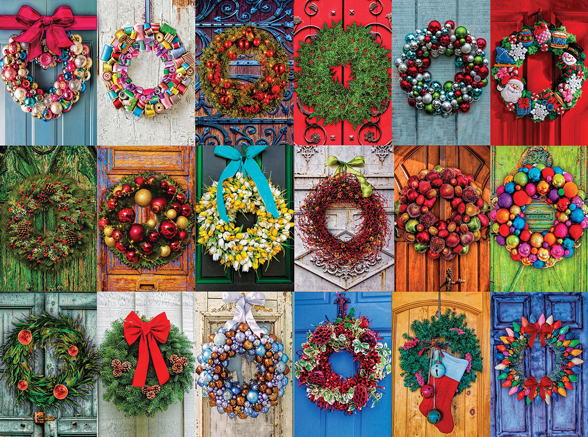 Holiday Wreaths Jigsaw Puzzle Puzzlewarehouse Com