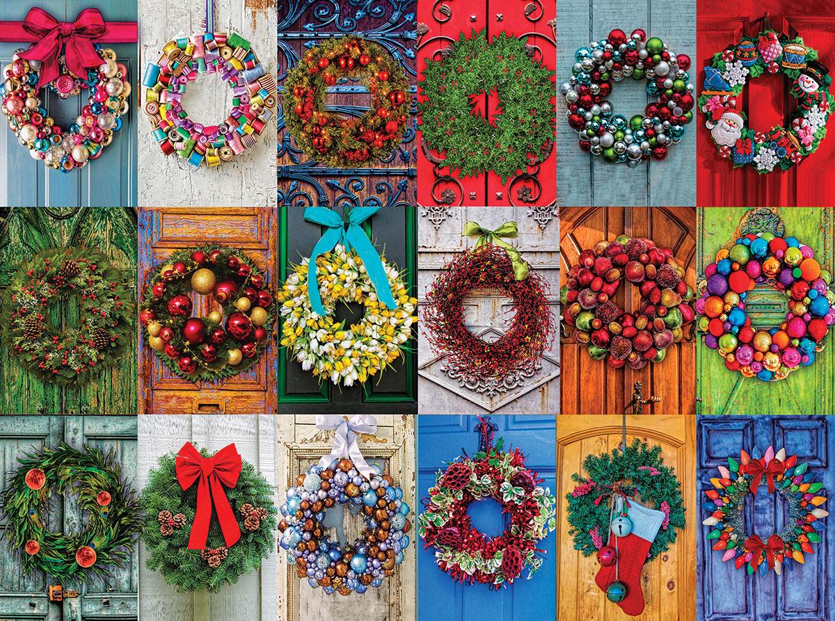 Holiday Wreaths Christmas Jigsaw Puzzle