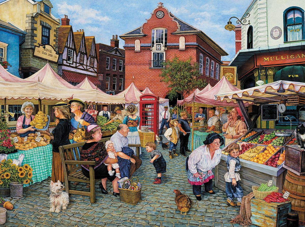 Farmers Market Summer Jigsaw Puzzle