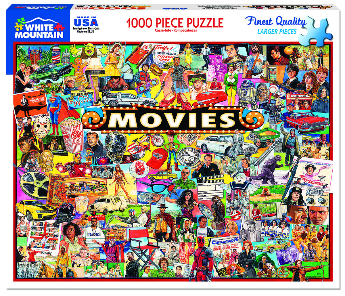 The Movies - Scratch and Dent Collage Jigsaw Puzzle