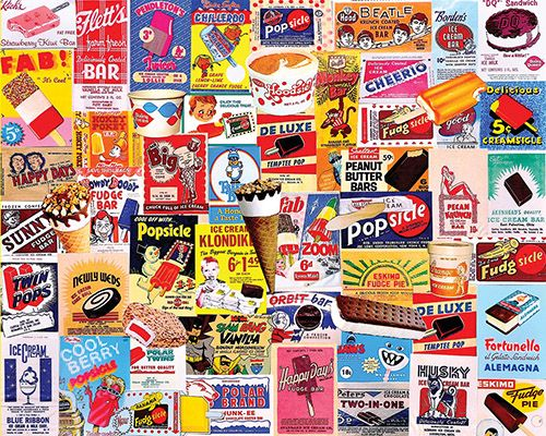 Ice Cream Bars Nostalgic / Retro Jigsaw Puzzle