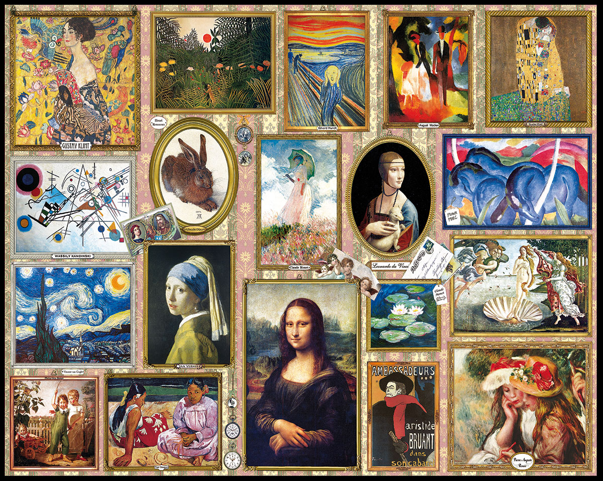 Great Paintings Fine Art Jigsaw Puzzle