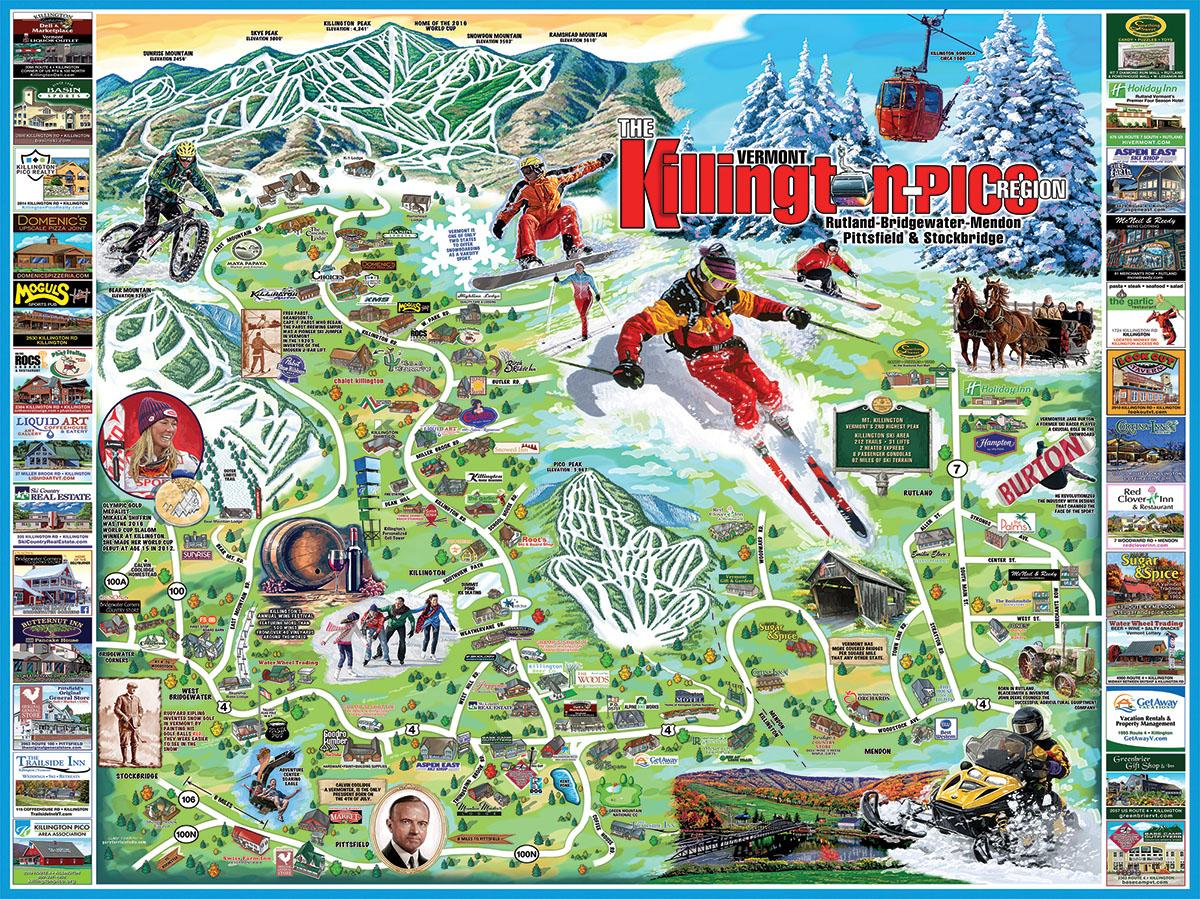 I Love Killington-Pico Maps / Geography Jigsaw Puzzle