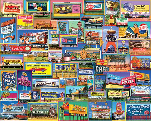 Billboards Nostalgic / Retro Jigsaw Puzzle