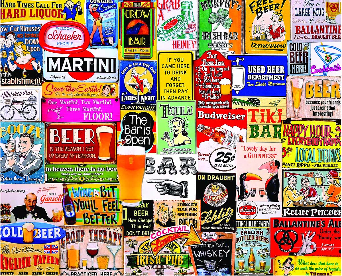 Happy Hour (Small Box) Collage Jigsaw Puzzle