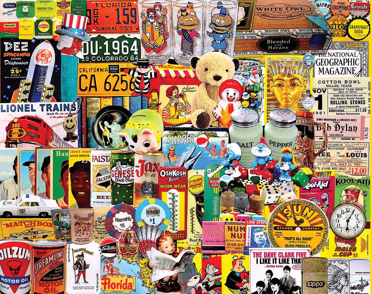 Things We Collect Collage Jigsaw Puzzle