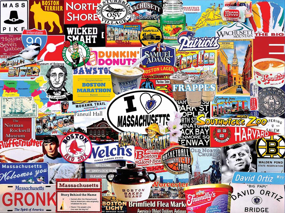 I Love Massachusetts Travel Jigsaw Puzzle