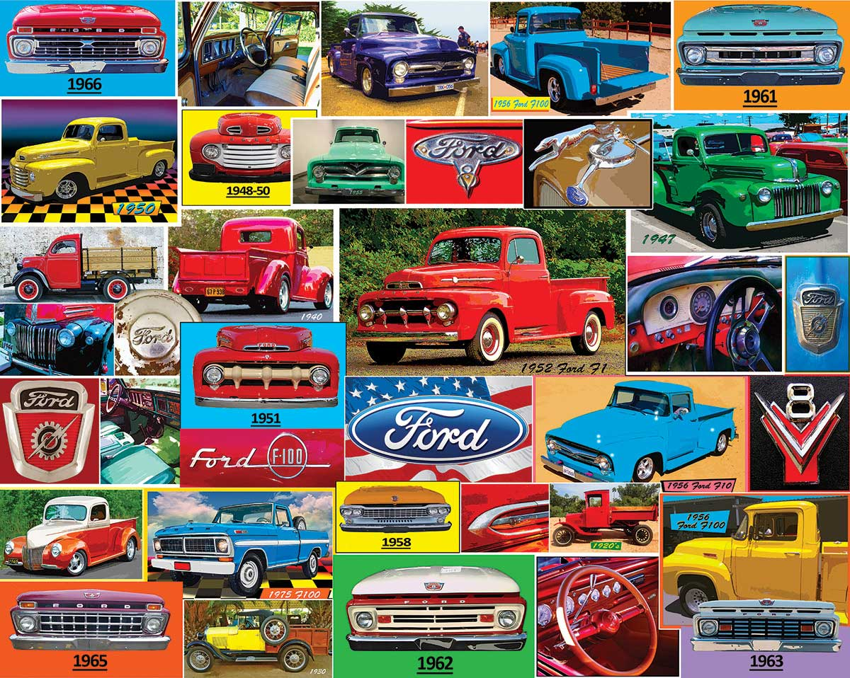 Classic Ford Pickups Vehicles Jigsaw Puzzle