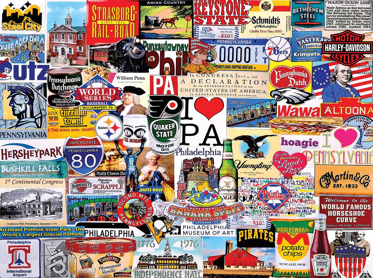 I Love Pennsylvania Travel Jigsaw Puzzle