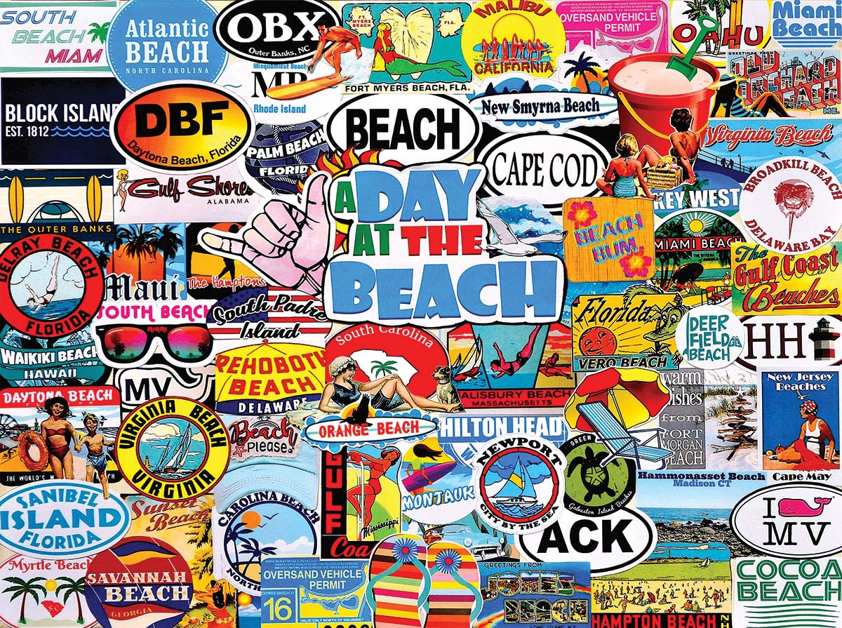 A Day At The Beach Beach Jigsaw Puzzle