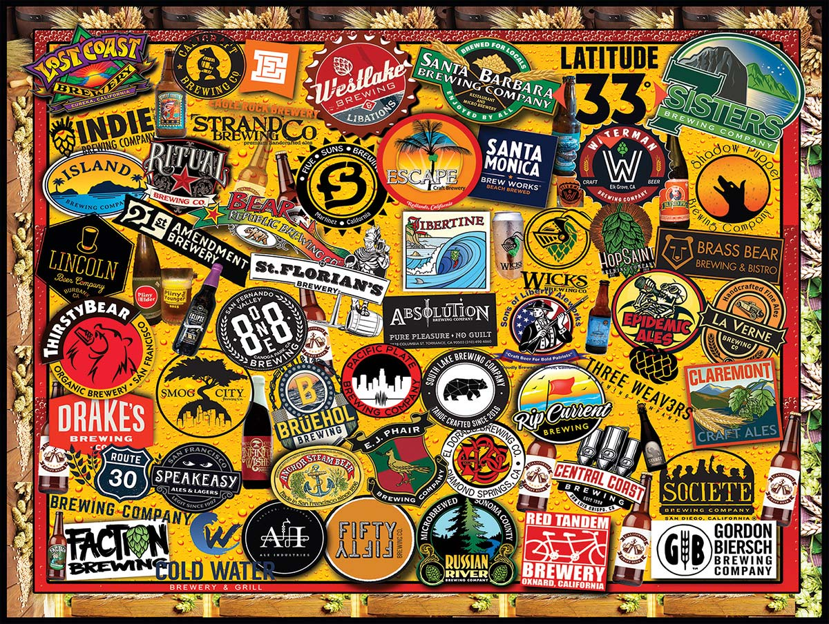 California Craft Beer Food and Drink Jigsaw Puzzle