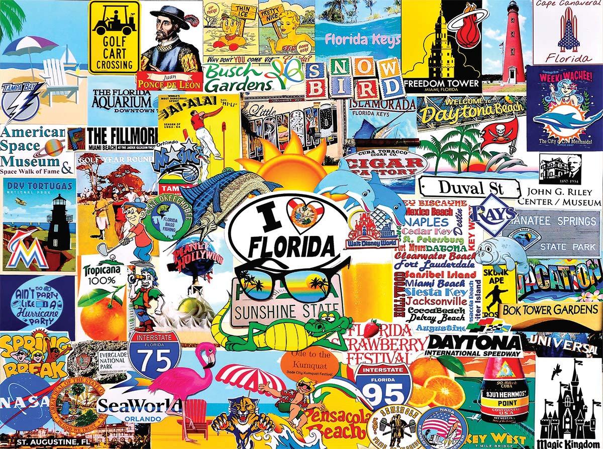 I Love Florida Collage Jigsaw Puzzle