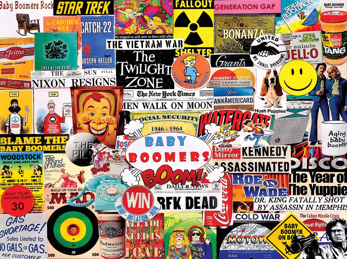 Baby Boomers History Jigsaw Puzzle