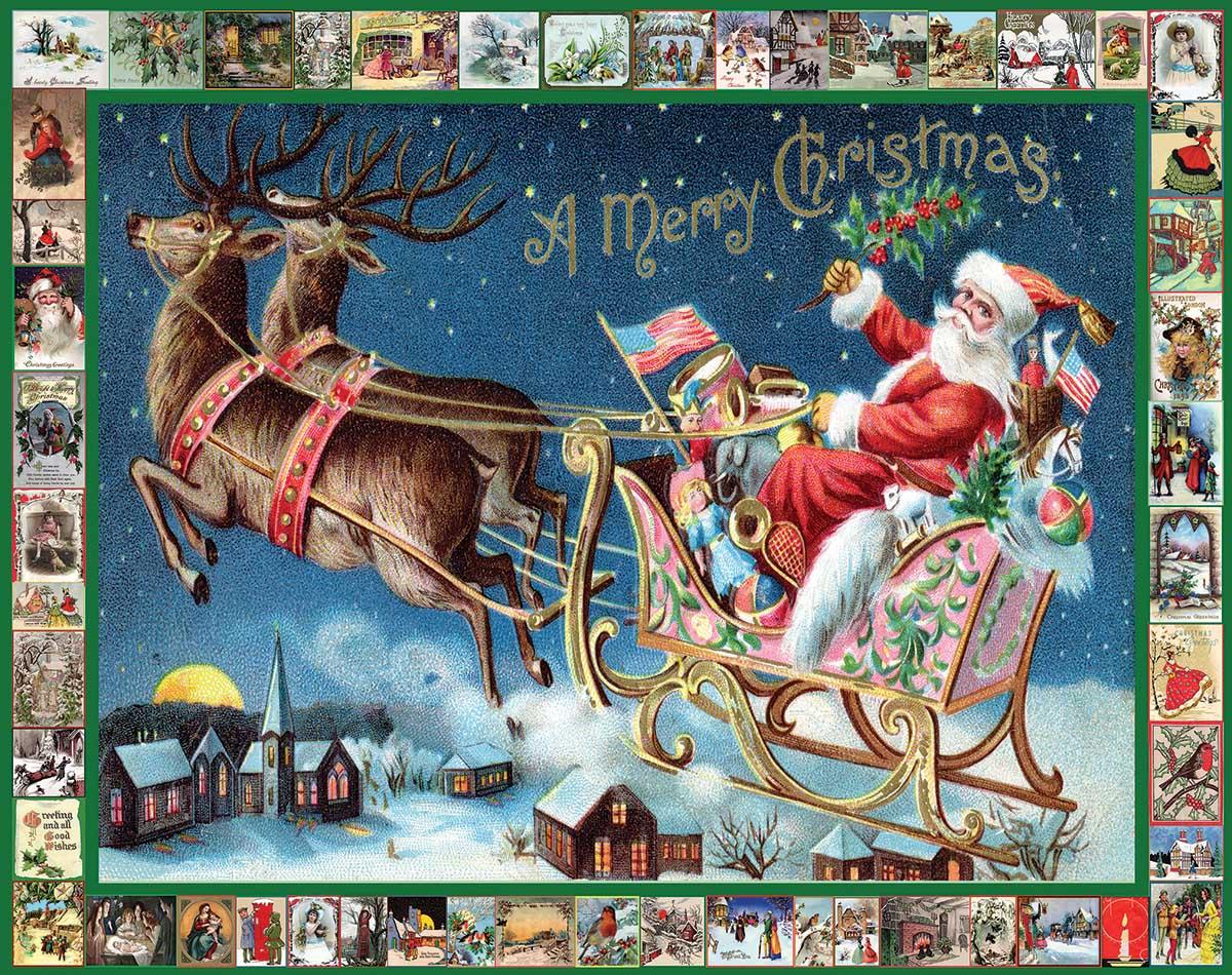 Santa's Sleigh Santa Jigsaw Puzzle