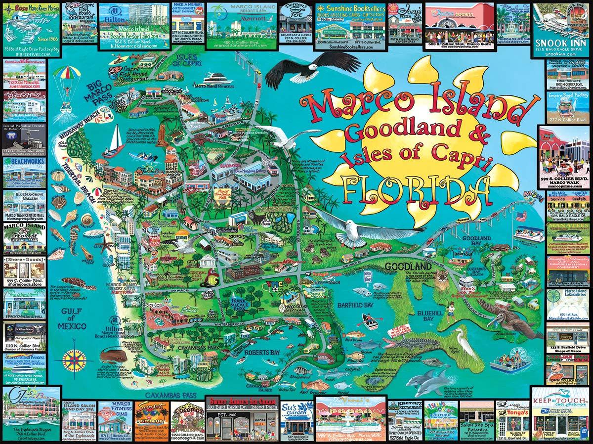 Marco Island, FL Maps / Geography Jigsaw Puzzle