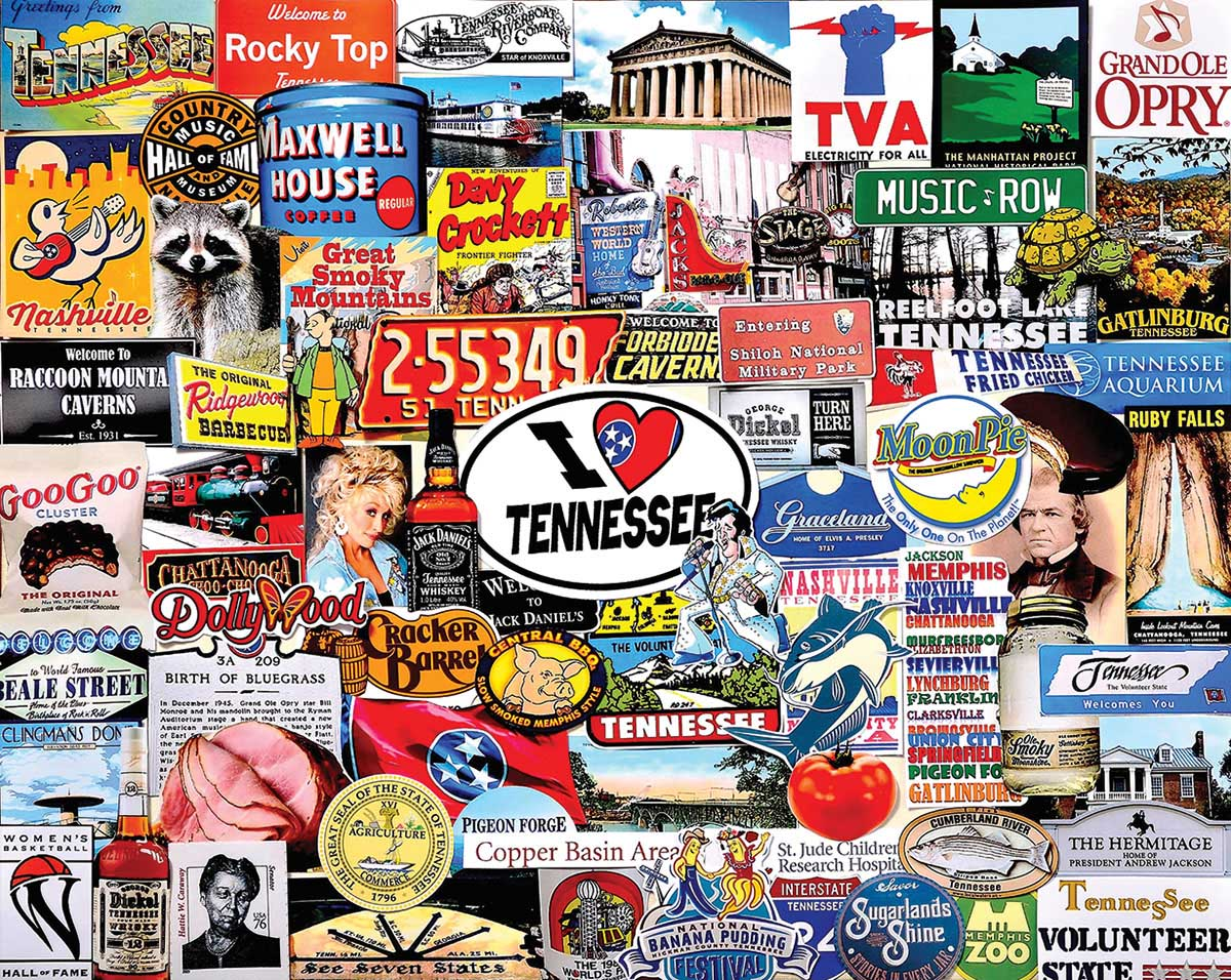 I Love Tennessee Travel Jigsaw Puzzle