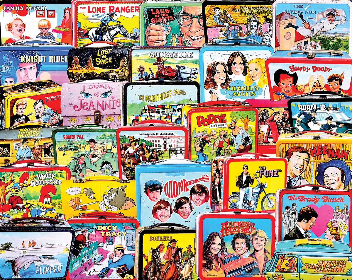 TV Lunch Boxes Movies / Books / TV Jigsaw Puzzle
