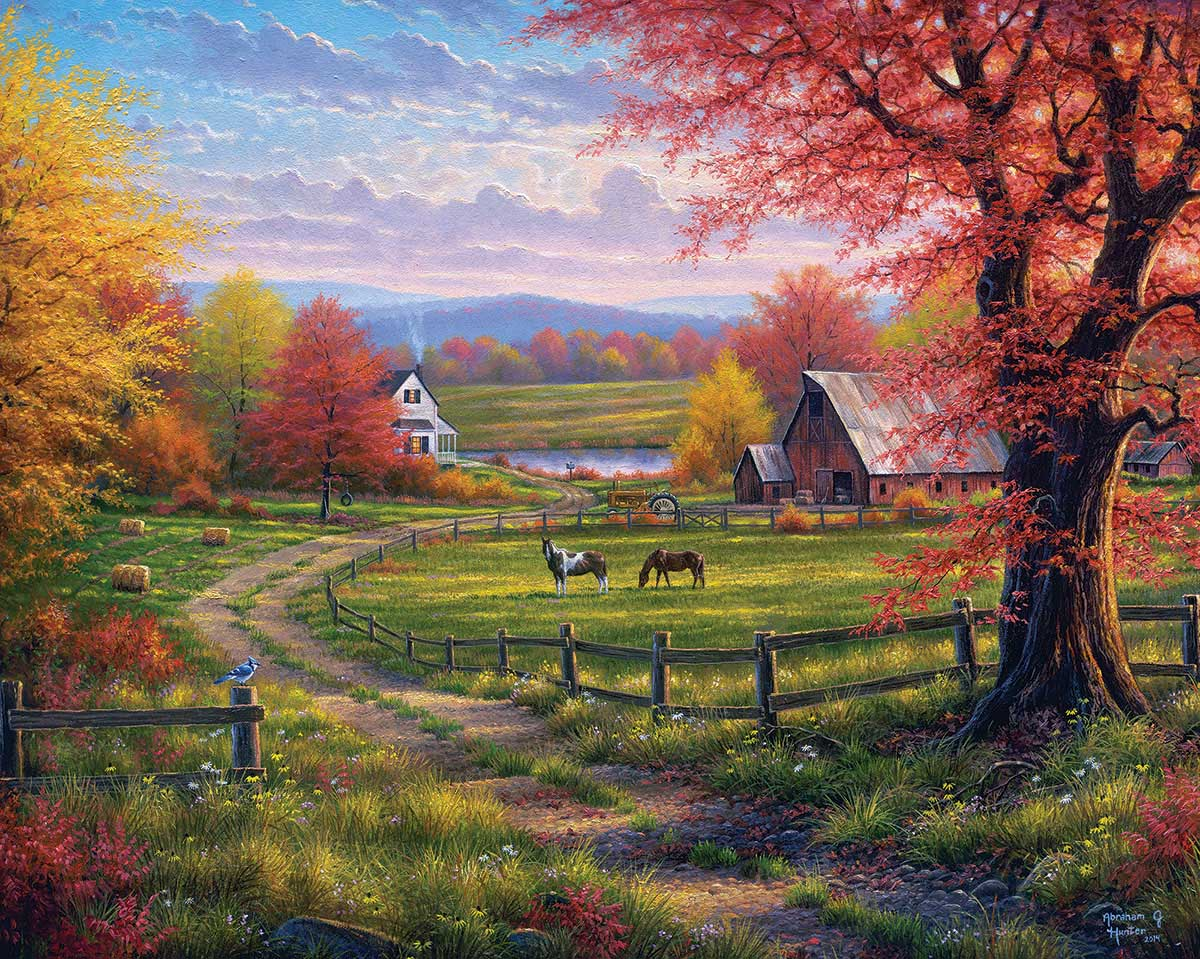 Peaceful Tranquility Farm Jigsaw Puzzle