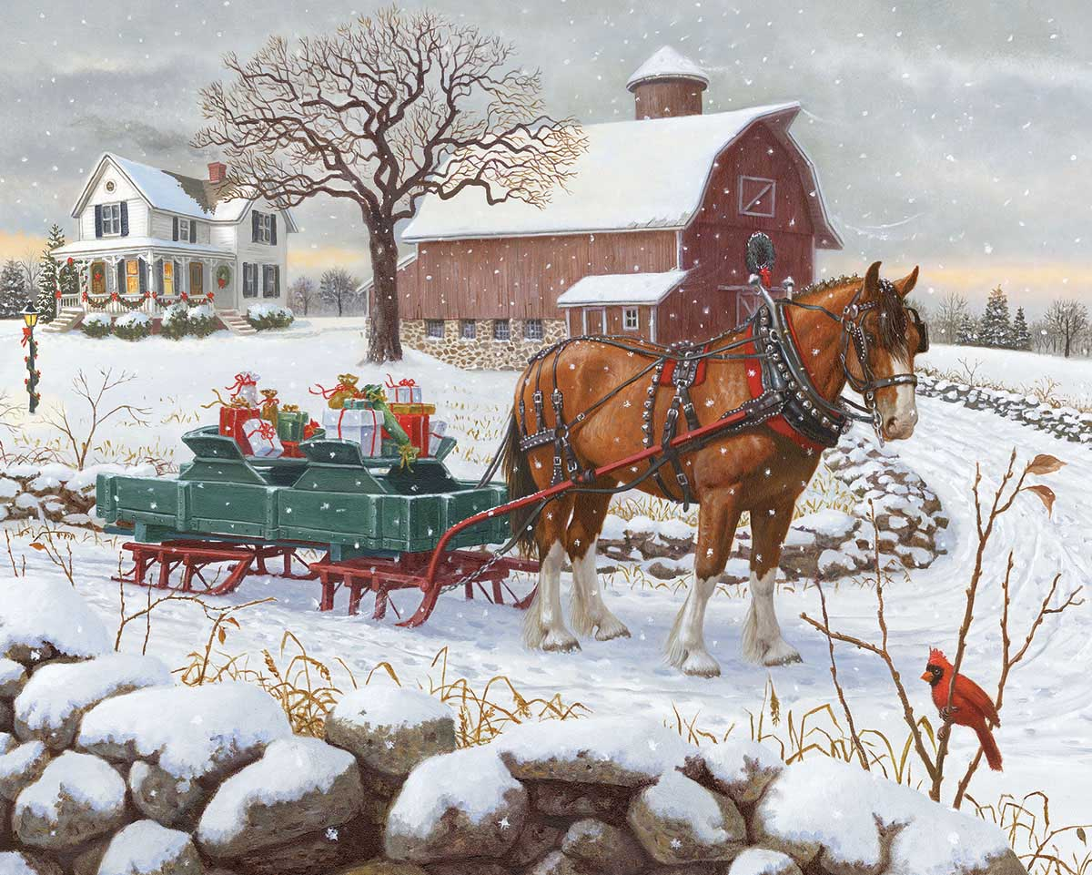 Christmas Delivery Farm Jigsaw Puzzle
