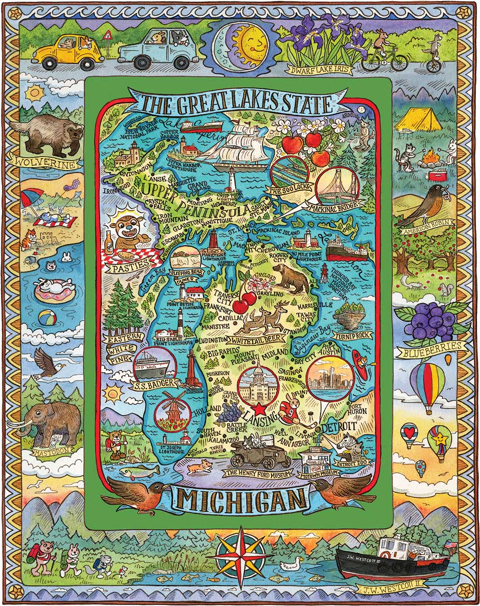 Michigan Maps / Geography Jigsaw Puzzle