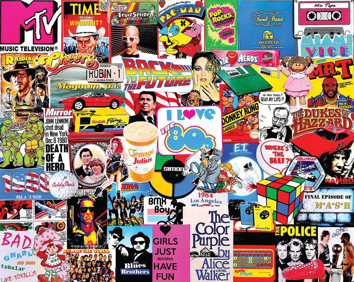 I Love the 1980s Movies / Books / TV Jigsaw Puzzle