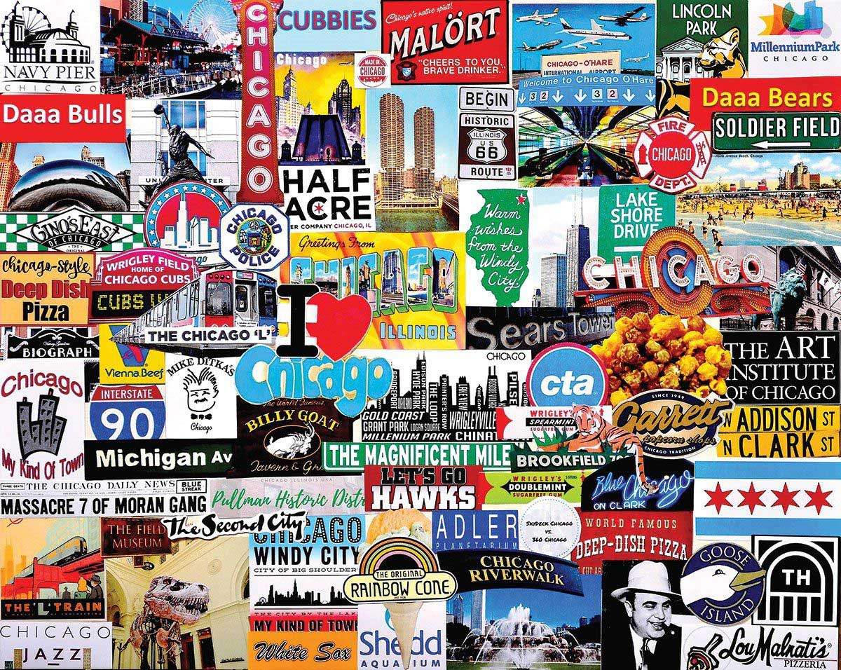 I Love Chicago Chicago Jigsaw Puzzle