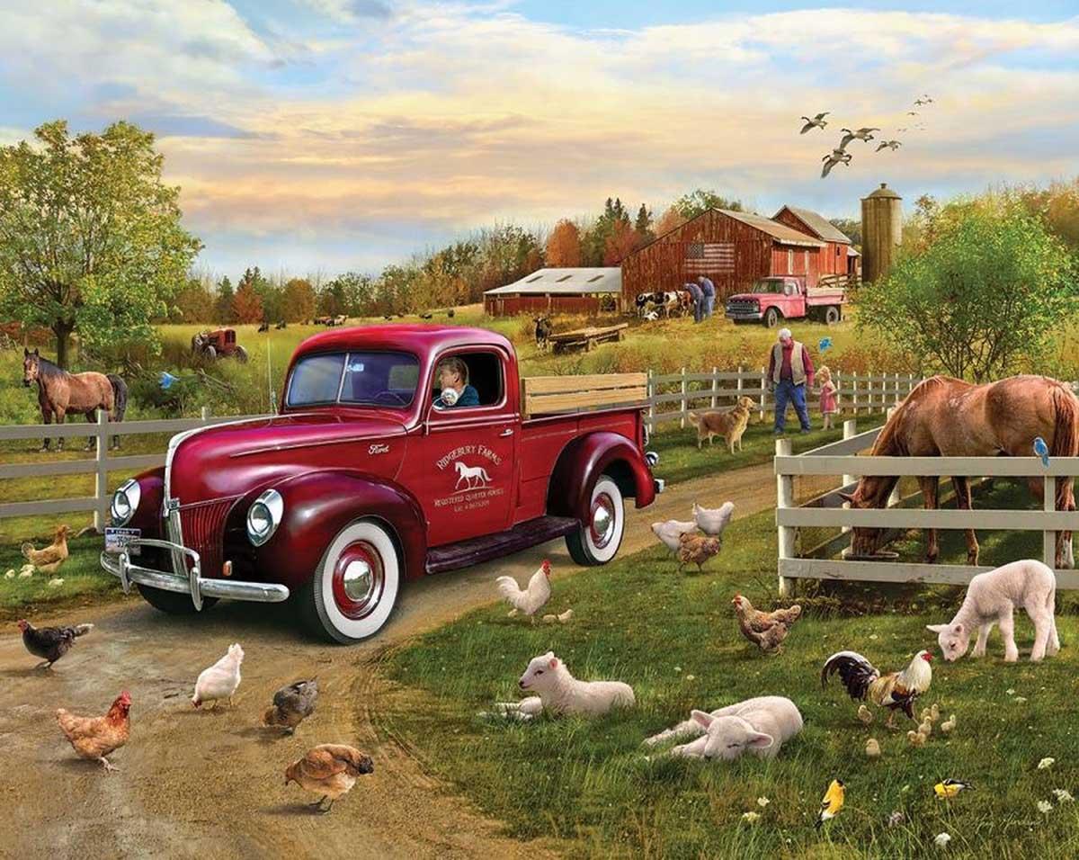 Grandpa's Pride & Joy Farm Jigsaw Puzzle